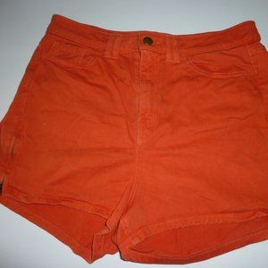 American Apparel Orange Denim shorts